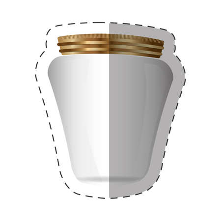 glass jar with metal cap vector illustration eps 10