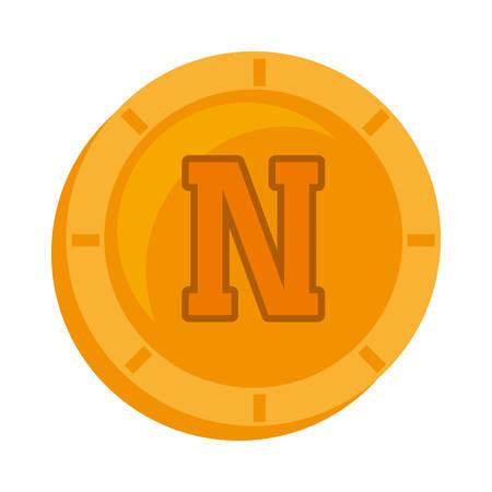 novacoin money golden icon vector illustration eps 10