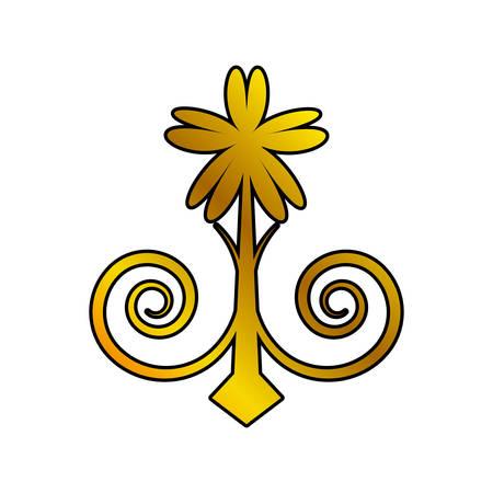 embellishment: decoration ornament element swirl golden vector illustration eps 10