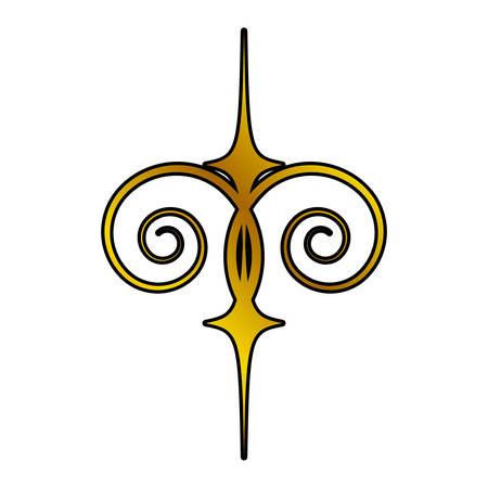intertwined: decoration ornament element swirl golden vector illustration eps 10