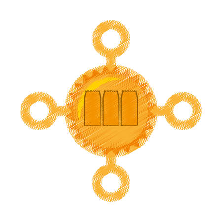 drawing megacoin web icon vector illustration eps 10