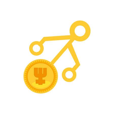 primecoin money golden virtual vector illustration eps 10