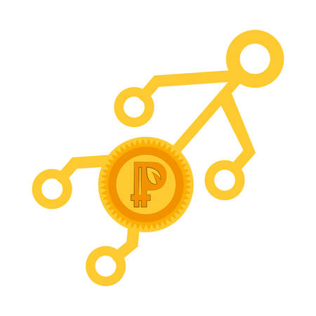 peercoin money golden virtual vector illustration eps 10 Illustration