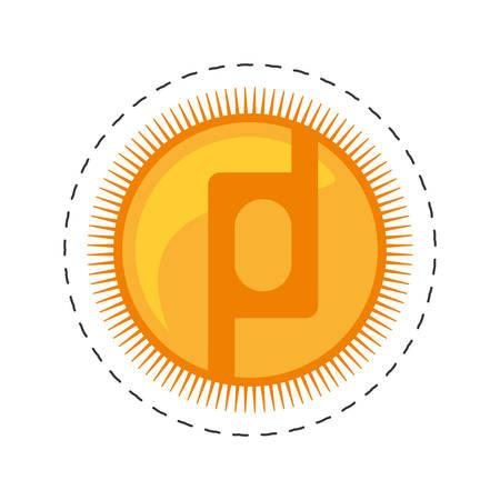 protoshare money golden coin commerce vector illustration eps 10