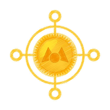 drawing mastercoin currency icon vector illustration eps 10 Illustration