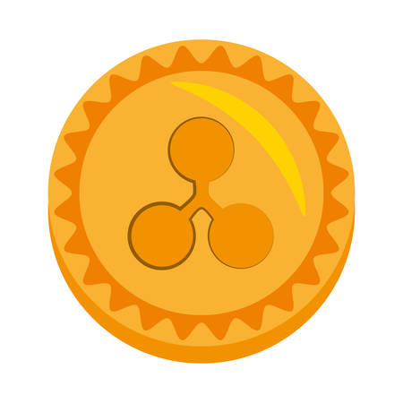 ripple money golden coin vector illustration eps 10