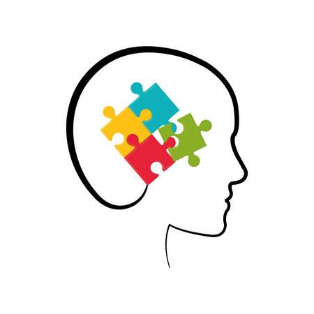 Puzzle piece symbol icon vector illustration graphic design