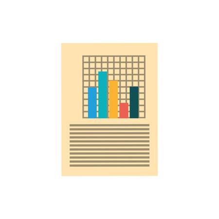 bard: Statistics chart report icon vector illustration graphic design