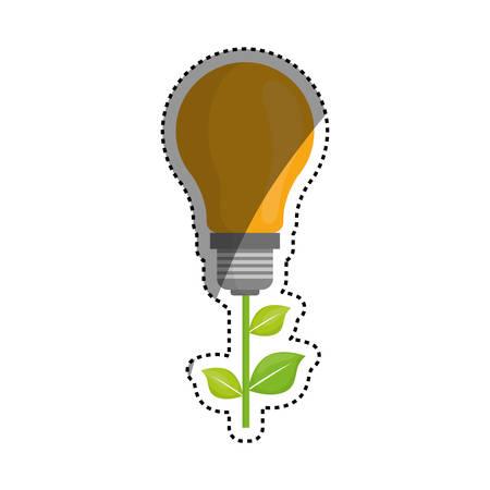 environmental contamination: Green energy ecology icon vector illustration graphic design