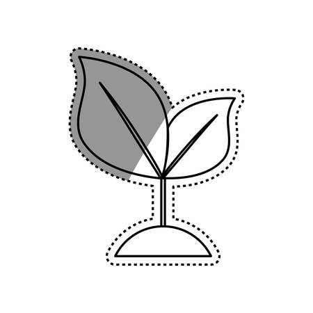 Nature green plant icon vector illustration graphic design