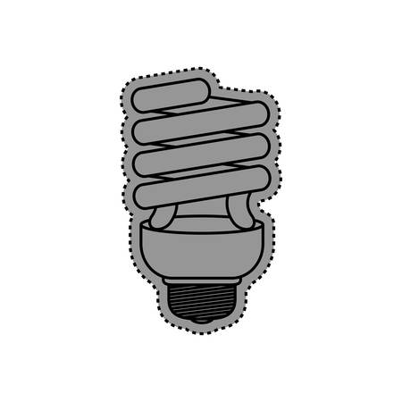 kilowatt: Spiral bulb symbol icon vector illustration graphic design