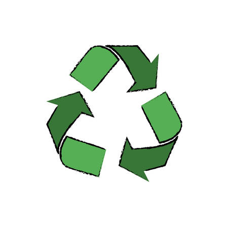 Recycle ecology symbol icon vector illustration graphic design