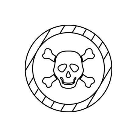 hazard stripes: danger and warning sign icon vector illustration graphic design Illustration