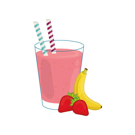 Delicious and sweet smoothie icon vector illustration graphic design