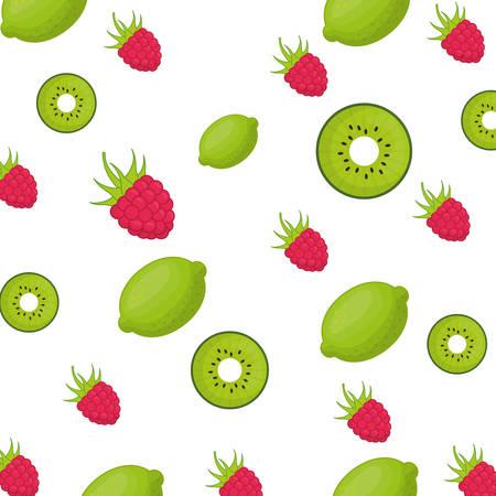 rasberry: Set of delicious fruits icon vector illustration graphic design
