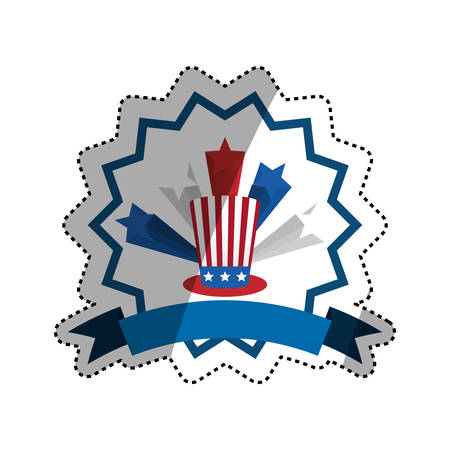 United States patriotic symbol icon vector illustration graphic design Illustration