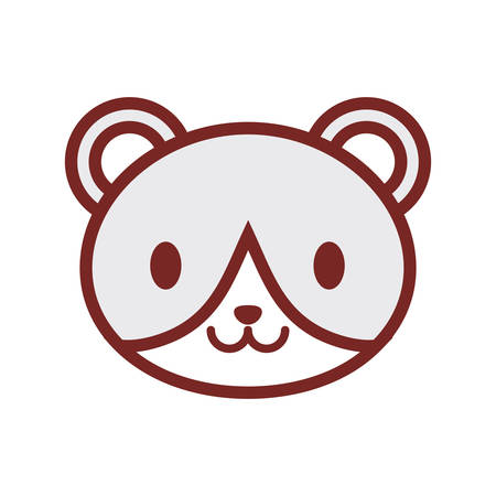 cute bear face image vector illustration