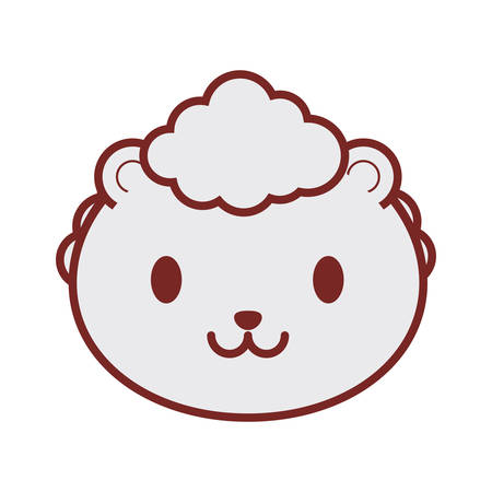 cute sheep face image vector illustration