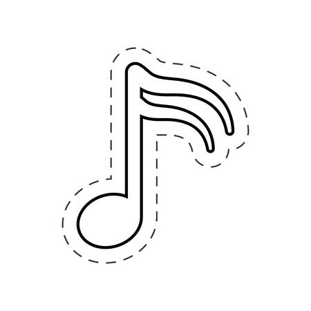 music note harmony cut line vector