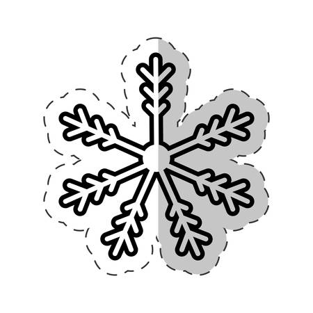 illustraiton: snowflakes winter cut line vector illustraiton eps 10 Illustration