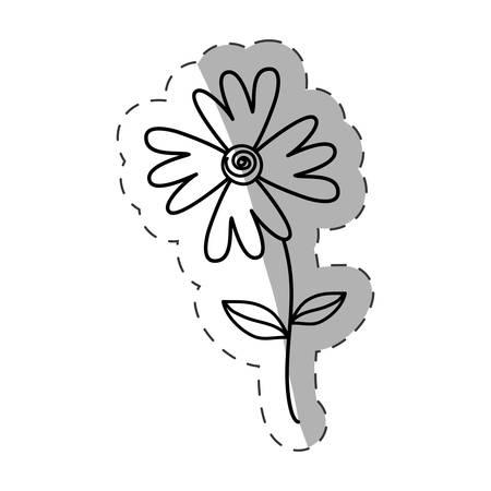 basic figure: flower flora wild icon monochrome vector illustration