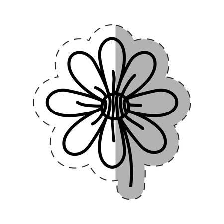 flower garden natural monochrome vector illustration Ilustração