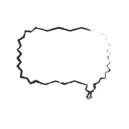 skecth: sketch bubble speech dialog vector illustration
