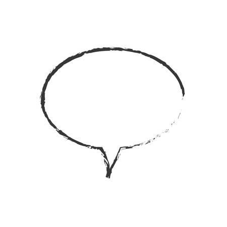sketch bubble speech message vector illustration
