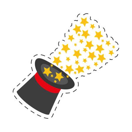 magician hat magical glow design vector illustration