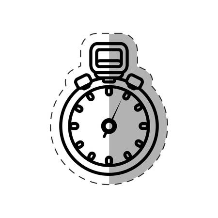 cronometro: chronometer watch sport cut line vector illustration eps 10