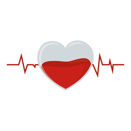 salvavidas: crystal heart pulse blood donation vector illustration eps 10 Vectores