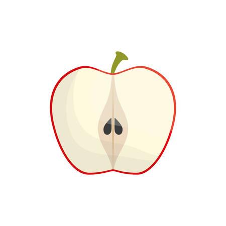 slice apple fruit healthy vector illustration eps 10 Illustration