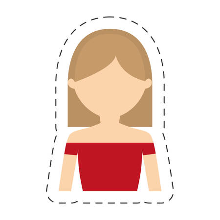 portrait woman female icon vector illustration eps 10