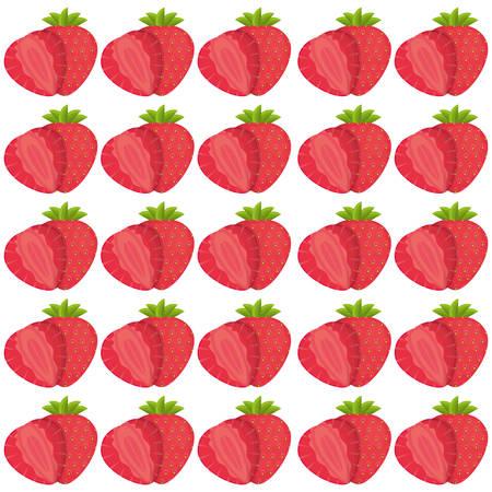 strawberry seamless pattern design vector illustration Illustration