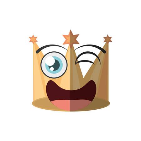 partie de couronne dorée de dessin animé clin d'oeil vector illustration eps 10