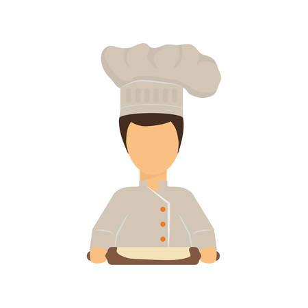 Chef cartoon character icon vector illustration graphic design