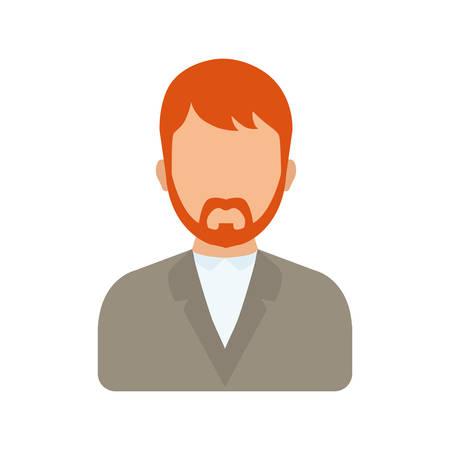 Men faceless profile icon vector illustration graphic design
