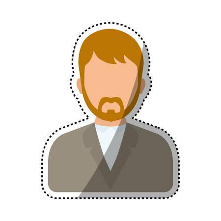Men faceless profile icon icon vector illustration graphic design Çizim