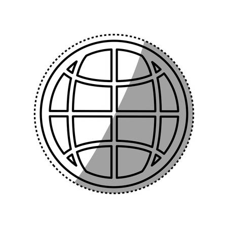 Sphere global isolated icon vector illustration graphic design