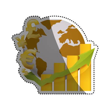 Money of world icon vector illustration graphic design