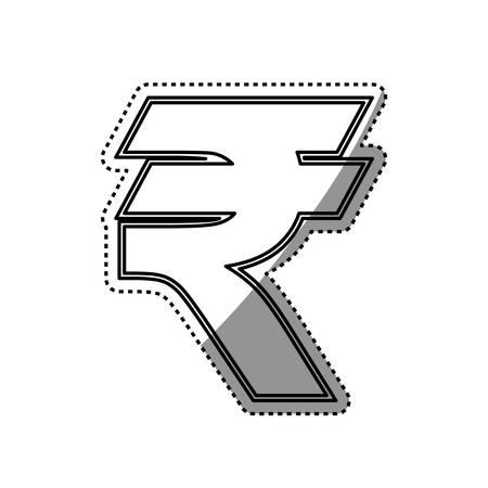 Rupee Money currency icon vector illustration graphic design Illustration