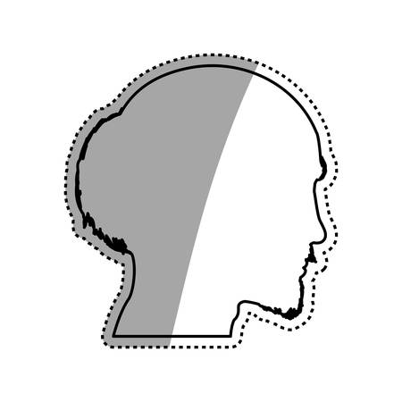 Man head silhouette icon vector illustration graphic design Illustration