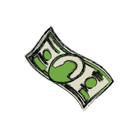 Billet of money icon vector illustration graphic design Illustration