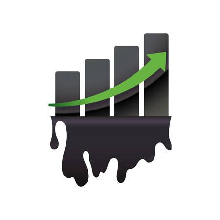 石油石油業界のアイコン ベクトル イラスト グラフィック デザイン