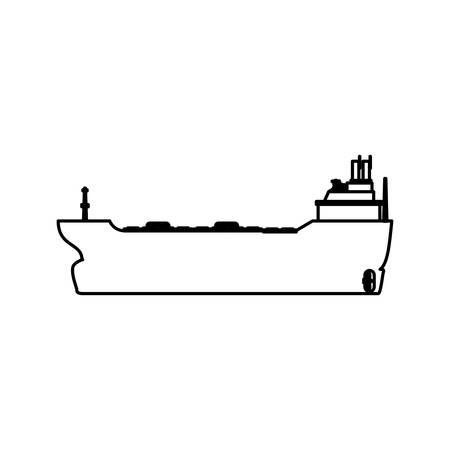 Freighter ship boat vector illustration graphic design