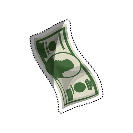 Billet of money vector illustration graphic design Illustration