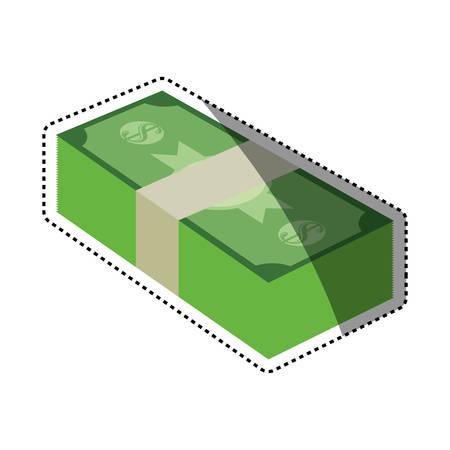 Billets of money vector illustration graphic design Illustration