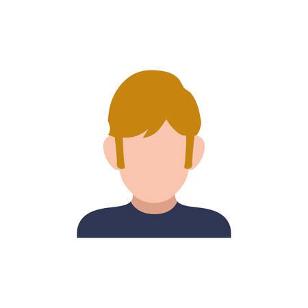 blondie: Man faceless profile icon vector illustration graphic design Illustration