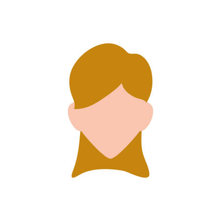 Woman faceless profile icon vector illustration graphic design Illustration