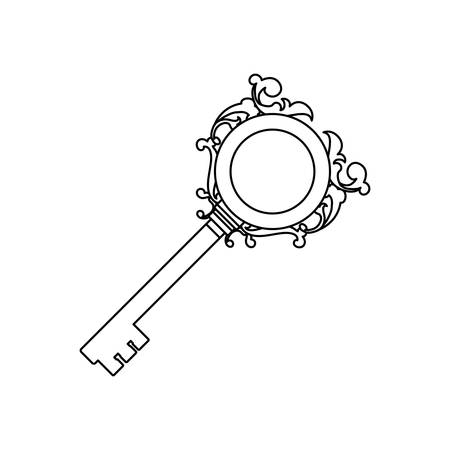 Vintage luxury key icon vector illustration graphic design